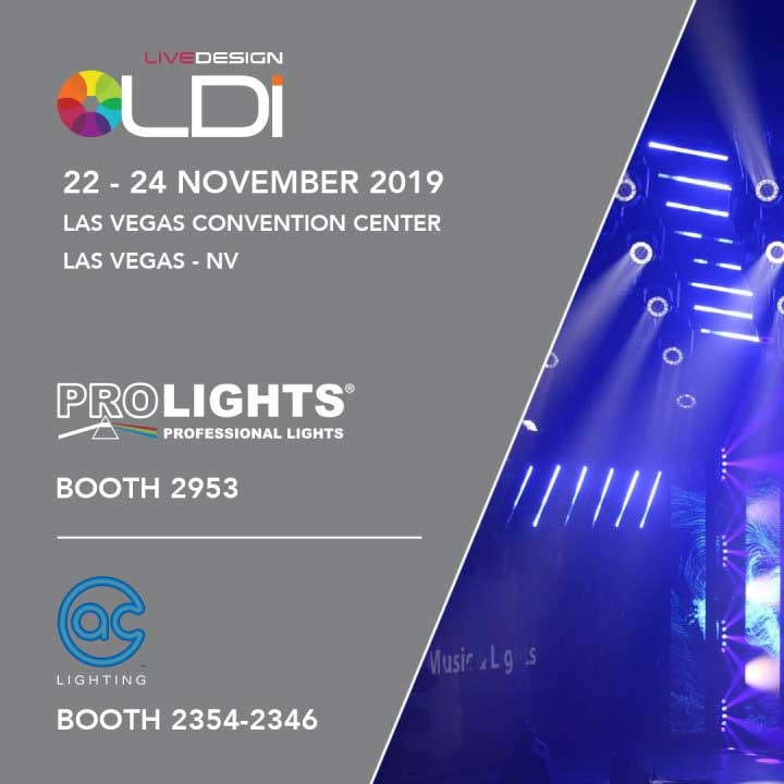 PROLIGHTS doubles-up its exposure at LDI show in Las Vegas, November 22nd to 24th