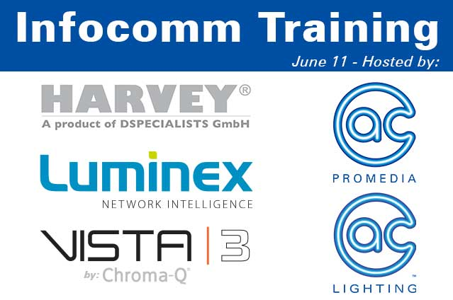 A.C. Lighting Inc. And A.C. ProMedia Host Manufacturer Training During Infocomm